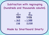Subtraction (Regrouping) Smartboard Math Lesson