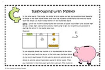 Subtraction- Regrouping with Money