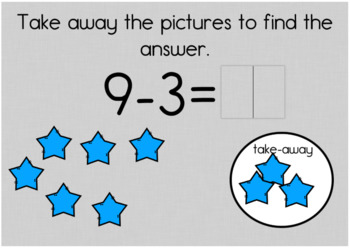 Subtraction Review Digital Task Cards with BOOM Cards for Kindergarten