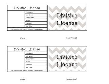 Division Reward Licenses