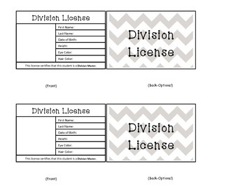 Division Reward Licenses