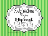 Subtraction Rhyme Cut and Paste Activity (With and Without Regrouping)