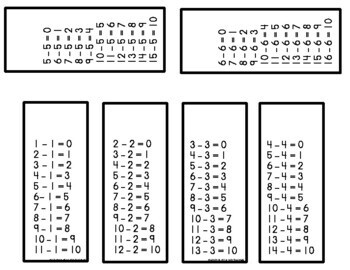 Subtraction Rings {Fact Fluency 0-12}
