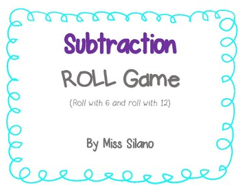 Subtraction Roll (Math Game)