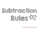 Subtraction Rule Poster Pack