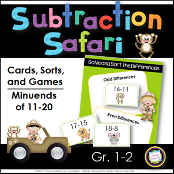 Subtraction 11-20 Games and Sorts