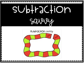 Subtraction Savvy - Subtraction Review Center Game