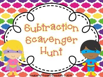 Subtraction Scavenger Hunt