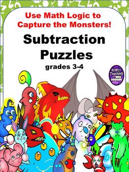 Subtraction Scavenger Hunt Logic Puzzle Games