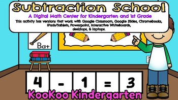 Subtraction School-A Digital Math Center (Compatible with Google Apps)