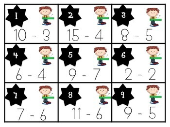 Subtraction Scoot: Game