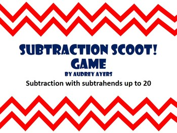 Subtraction Scoot Games - Math Review