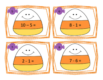 Subtraction Scoot Halloween Theme