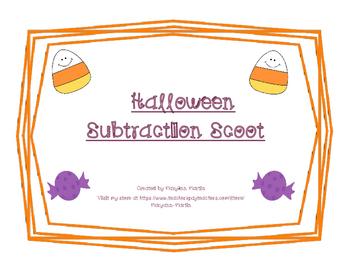 Subtraction Scoot Halloween Theme