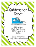 Subtraction Scoot Math Game Differences to 10 Set A