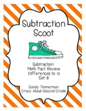 Subtraction Scoot Math Game Differences to 10 Set B
