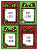 Subtraction Scoot Three-Digit Numbers with Regrouping Christmas