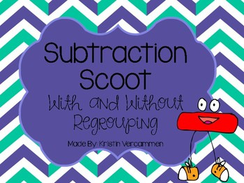 Subtraction Scoot - With and Without Regrouping