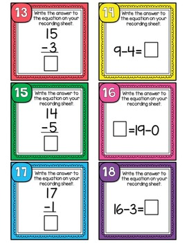 Subtraction Scoot or Task Cards