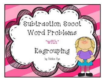 Subtraction Scoot with Word Problems