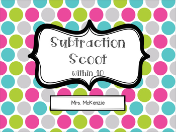 Subtraction Scoot: within 10