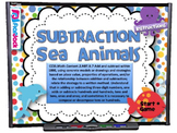 Subtraction Sea Animals Smart Board Game (CCSS.2.NBT.B.7)