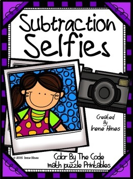 Color Code Math ~ Subtraction Selfies ~ 3 Digit Subtraction With Regrouping
