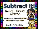 Subtraction Sentence Center: Building Equations