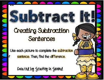 Subtraction Sentence Center: Building Equations