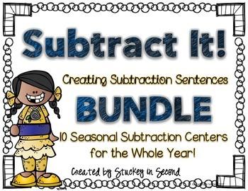 Subtraction Sentence Center: Building Equations {BUNDLE}