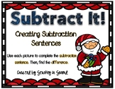 Subtraction Sentence Center: Building Equations {Christmas