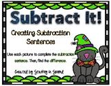 Subtraction Sentence Center: Building Equations {Halloween Edition}