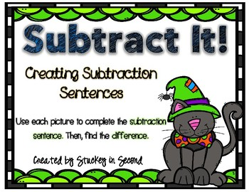 Subtraction Sentence Center: Building Equations {Halloween Edition}