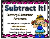 Subtraction Sentence Center: Building Equations {Spring Edition}