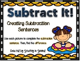 Subtraction Sentence Center: Building Equations {Summer Edition}