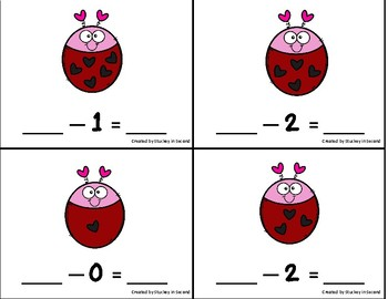 Subtraction Sentence Center: Building Equations {Valentine's Day Edition}