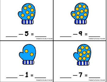 Subtraction Sentence Center: Building Equations {Winter Edition}