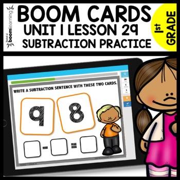 Subtraction Sentences BOOM CARDS | Module 1 Lesson 29