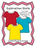 Subtraction Shirts - 3&4 Digit Subtraction with regrouping center
