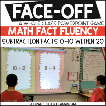 Subtraction Facts 0-10 with 20 (Christmas Edition)