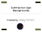 Subtraction Sign Backgrounds - Freebie