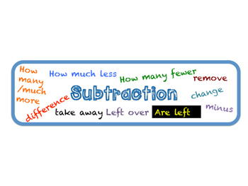 Subtraction Signal Words