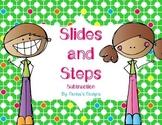Saint Patricks Day Subtraction Slides and Steps Game