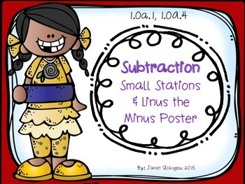 Subtraction Small Stations for First Grade