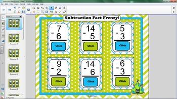 Subtraction Smartboard Flash Cards