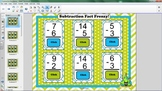 Subtraction Smartboard Flash Cards
