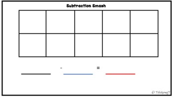 Subtraction Smash (differentiated) with Number Bonds