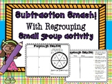 Subtraction Smash with Regrouping Place Value Chart PLAY DOUGH
