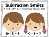 Subtraction Smiles (A Dental Health Themed Math Center Activity) K-2