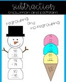 Subtraction Snowman or Icecream